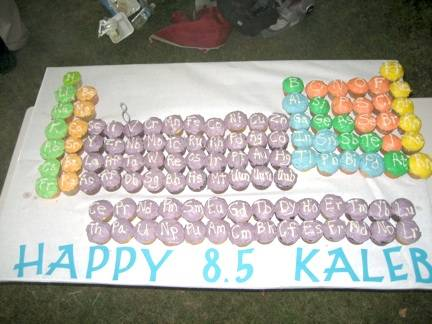 Here is another Periodic Table Cake, which proves that chemistry lovers must