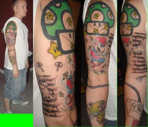 get the Super Mario Brothers Feet Tattoo, so they are always together!