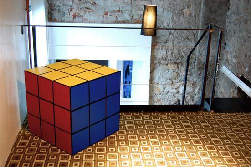 geeky Rubik-Cube-Living-Room