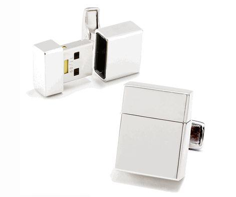 Be Trendy in a Geeky Way with USB Cuff Links