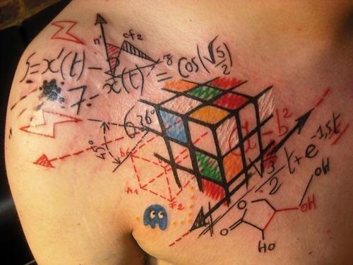 Rubik's Cube Formula Tattoo