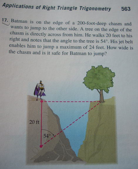 batman math right angle trigonometry