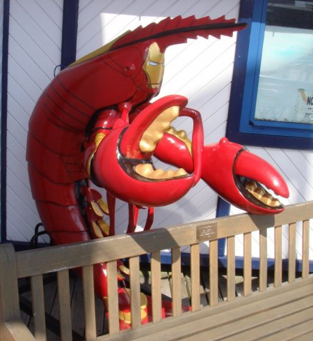 iron man lobster man suit