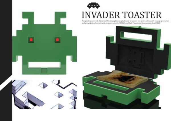 space invader toaster