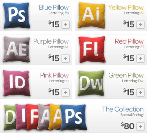 adobe creative suite icons pillow designs image
