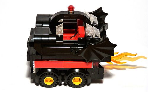batman 1966 batmobile lego boxcar
