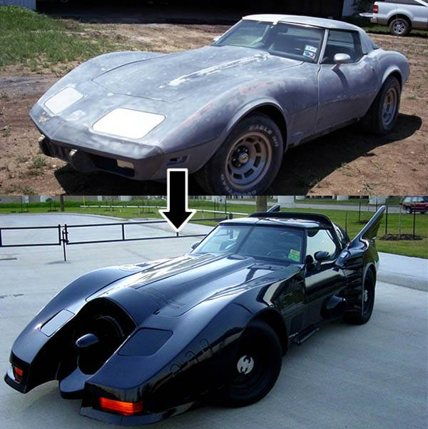 batmobile corvette remake