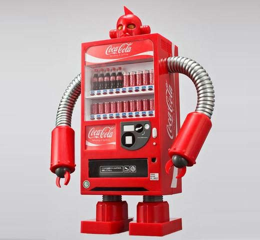 coca cola robot vending machine image