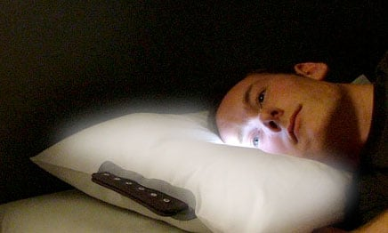 glowing pillow alarm clock design