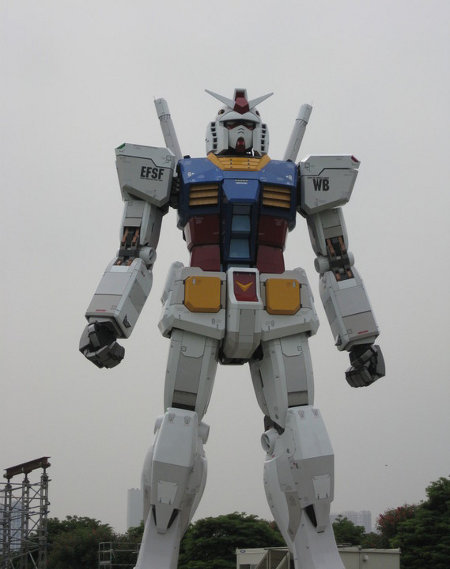 gundam robot statue image