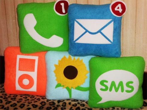 iphone icons pillow design image