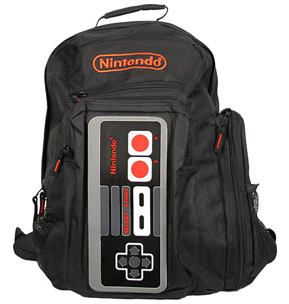 nes controller backpack geek theme