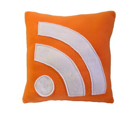 rss icon pillow design image