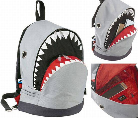 shark backpack geek theme