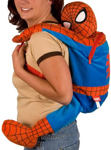 spiderman backpack geek theme