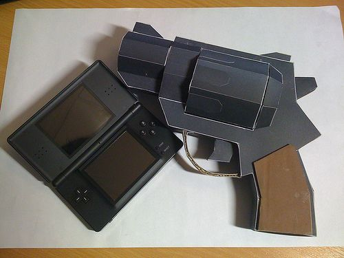 gta chinatown wars pistol papercraft weapon