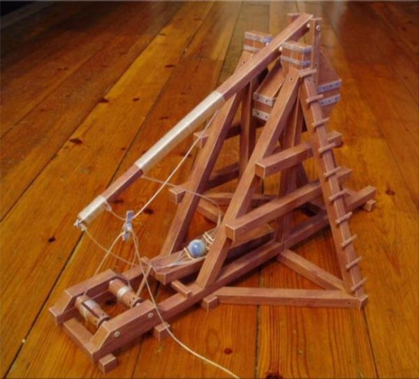 trebuchet papercraft model weapon