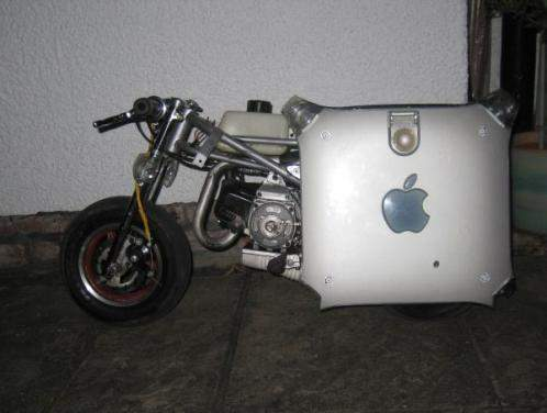 apple g4 motorbike motorcycle mod design