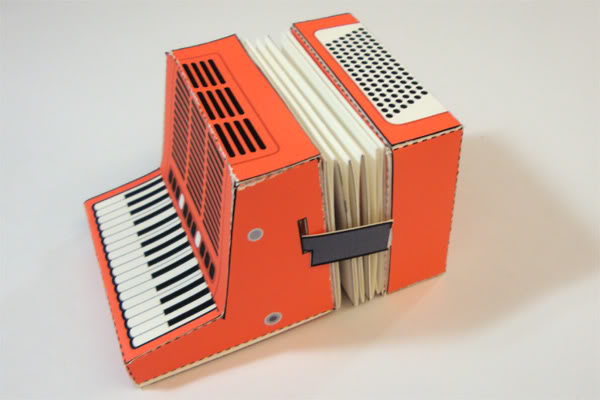creative calendar design fold out accordion image