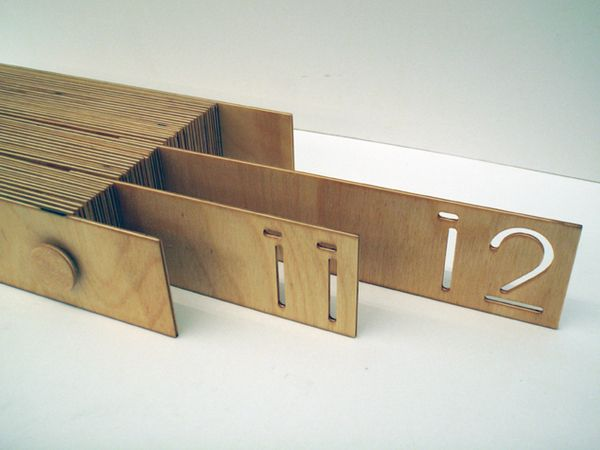 creative calendar design wooden office calendar image 1