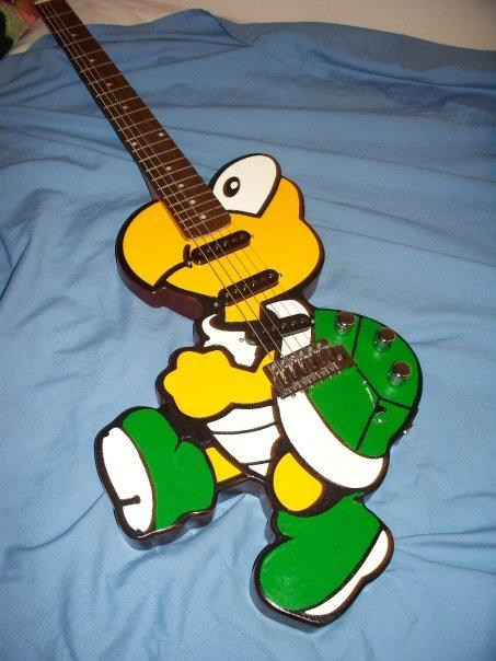 koopa troopa guitar mod design