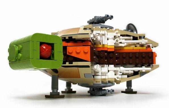 lego millennium falcon burger design