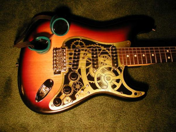 steampunk guitar mod design 3