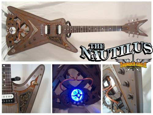 steampunk guitar mod design 4