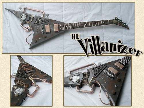 steampunk guitar mod design 5