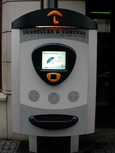 umbrella and camera vending machine image