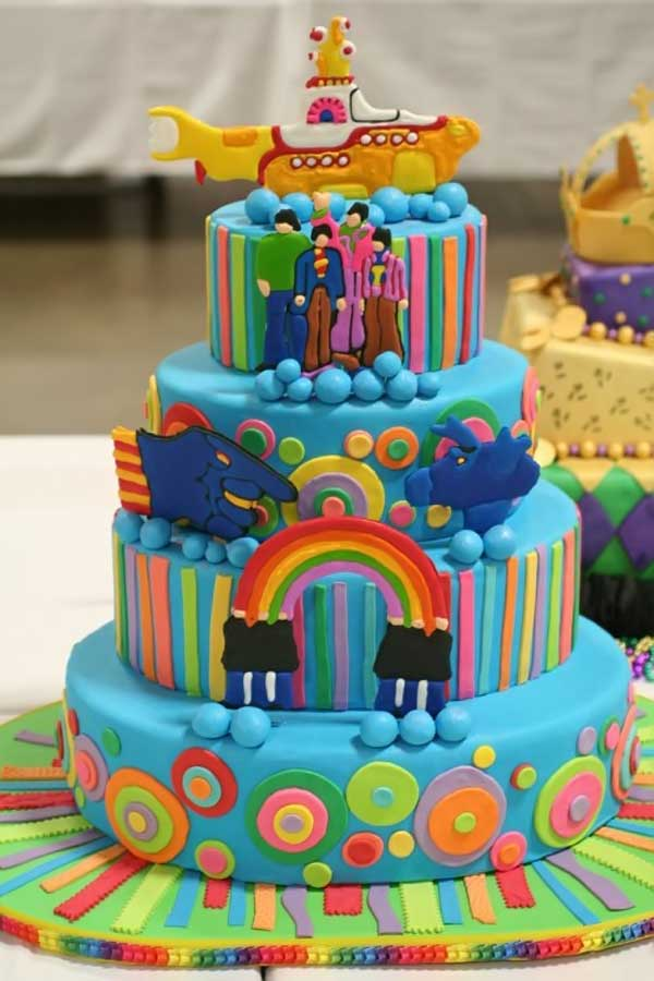Yellow Submarine Wedding Cake
