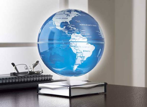 Floating Lighted Globe