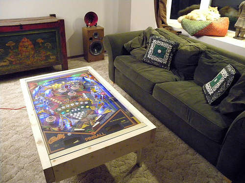LED Pinball coffee table