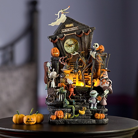 the clock looks good and includes many of the characters from the movie not only jack and sally who tend to be the main characters are on nightmare before