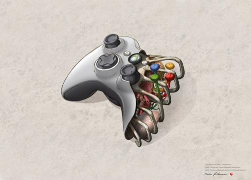 xbox 360 controller anatomy image 32 Amazing Anatomy Designs for Geeks