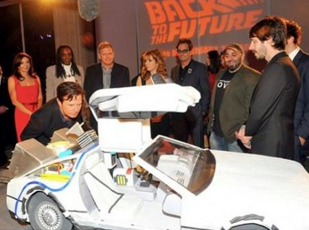back to the future delorean cake design