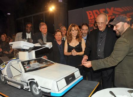 cool back to the future delorean cake design