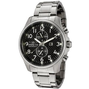 invicta mens watch stainless steel Hot Deal of the Week: 91% off Invicta Men's 0379 II Collection Stainless Steel Carbon Fiber Dial Watch