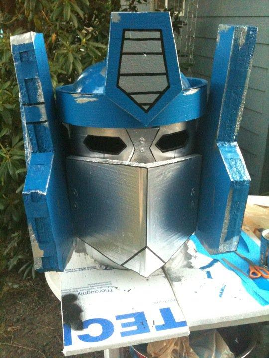 optimus prime statue halloween 2010