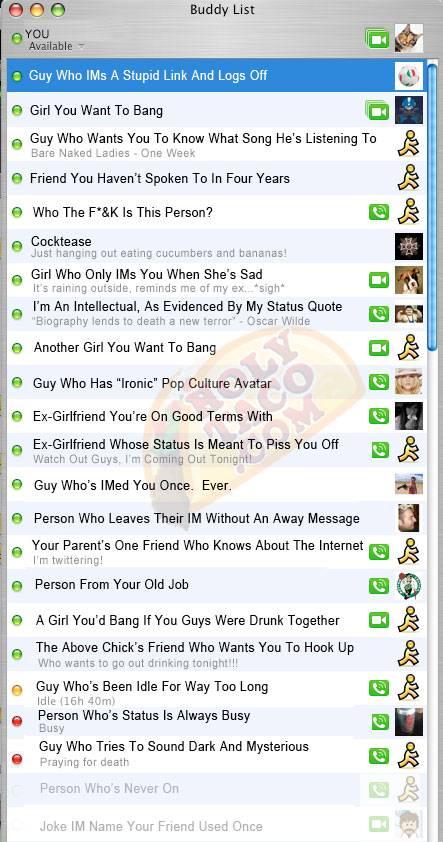 funny-instant-messenger-list