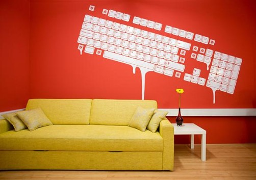 computer-keyboard-wall-graphics