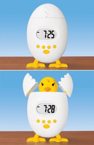 egg shaped gadget alarm clock