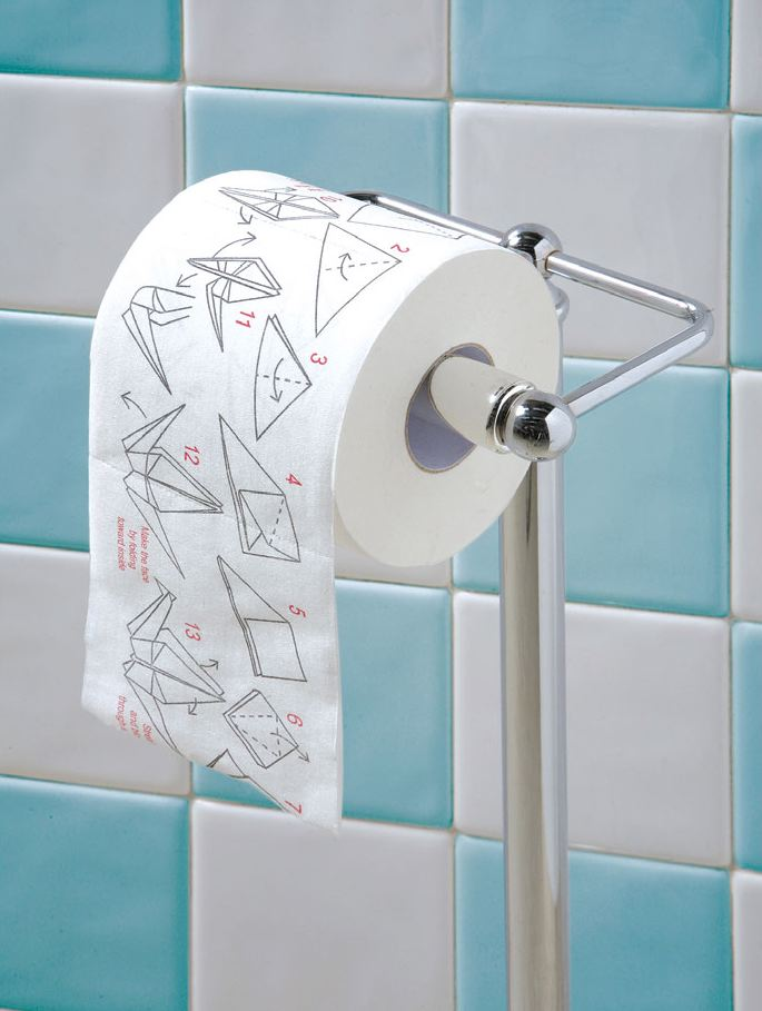 Origami Paper for the Bathroom