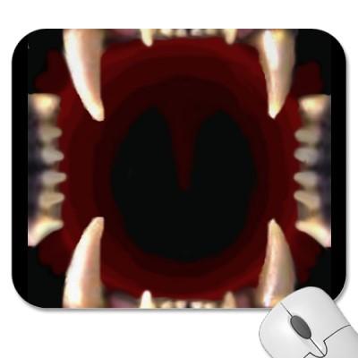 open mouth mousepad gadget