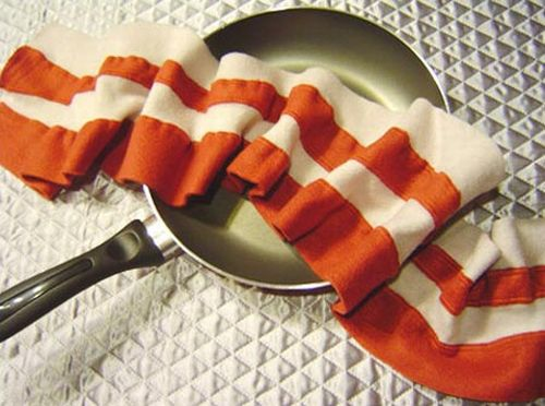 bacon food scarf