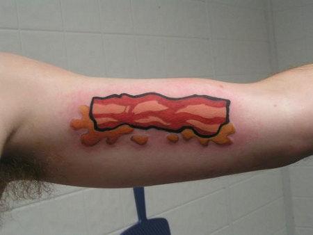 bacon tattoo design