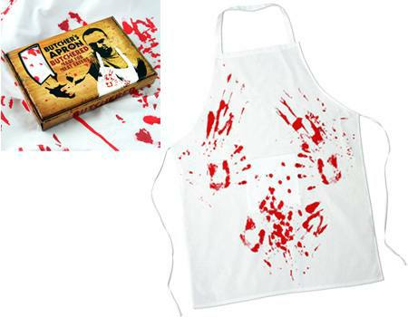 blood stained apron kitchen attire