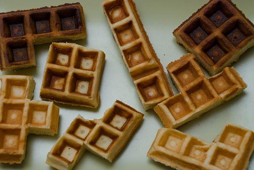 cool tetris design of waffles