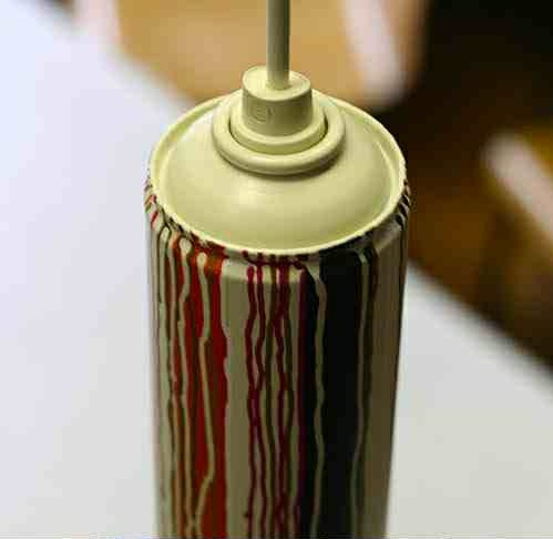homemade lamps spray paint can