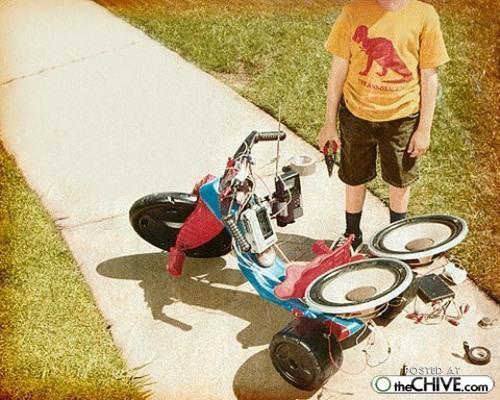 funny nerd bicycle